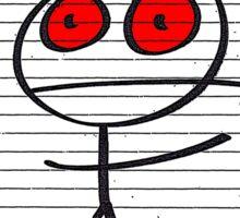 HAPPY STICKMAN (WHITE) Sticker