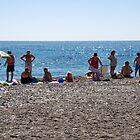 enjoying the beach, almunecar by mortonboy
