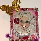 Dolly Parton make up & nail polish painting by Ambur Rockell