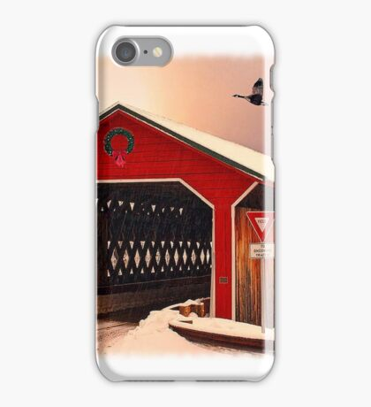 """Snow Covered Bridge"" iPhone Case/Skin"