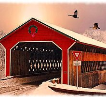 """Snow Covered Bridge"" by SteelCityArtist"