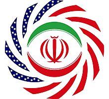 Iranian American Multinational Patriot Flag Series Photographic Print