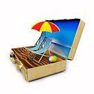 Beach Suitcase  by Bruno Beach