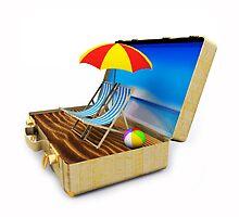 Beach Suitcase  by Atanas Bozhikov Nasko