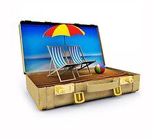 Beach Suitcase  by Digital Editor .