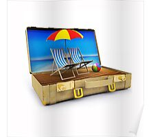 Beach Suitcase  Poster