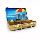 Beach Suitcase  by Nasko .