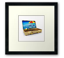 Beach Suitcase  Framed Print