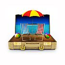 Beach Suitcase  by Digital Editor .