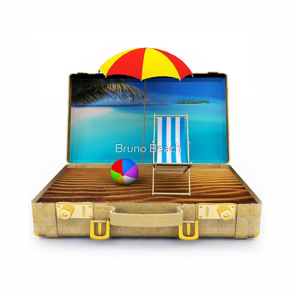 Beach Suitcase  by Atanas Bozhikov
