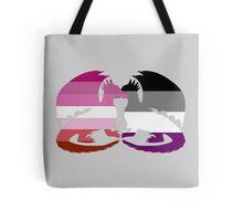 Lesbian Ace Pride Dragons Tote Bag