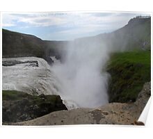 Gullfoss waterfall, golden waterfall, Iceland Poster