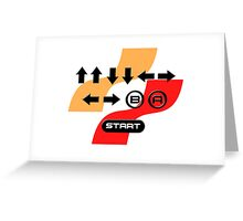 The Konami Code Greeting Card