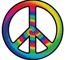Tie-dye (peace symbol) by surreal77