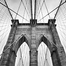 Brooklyn Bridge New York City close up architectural detail by artonwear