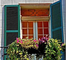 French Quarter Balcony by Chet  King