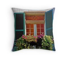 French Quarter Balcony Throw Pillow
