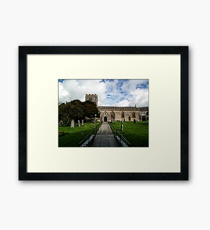 Uplyme Village Church. Devon UK Framed Print