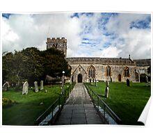 Uplyme Village Church. Devon UK Poster