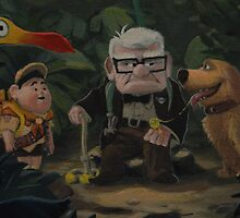 UP Dug Russell Kevin Carl UP Characters Movie by notheothereye