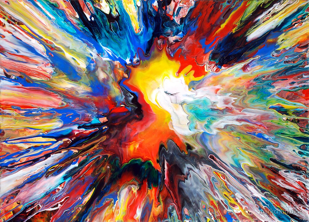 Colourful Spin Painting 24 by markchadwick