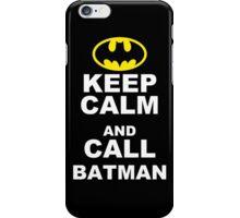 KEEP CALM & CALL BATMAN Funny Mens T Shirt S M L XL XXL XXXL - CARRY ON iPhone Case/Skin