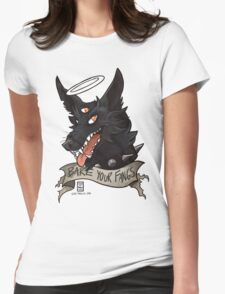 Bare Your Fangs Womens Fitted T-Shirt