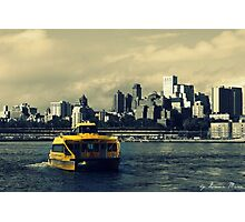 NY water-taxi Photographic Print