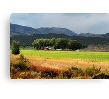 Utah Farming Canvas Print
