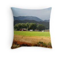 Utah Farming Throw Pillow