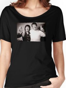 Keith Moon with Oliver Reed the who funny drunk legends mens t shirt Women's Relaxed Fit T-Shirt