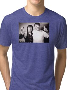 Keith Moon with Oliver Reed the who funny drunk legends mens t shirt Tri-blend T-Shirt