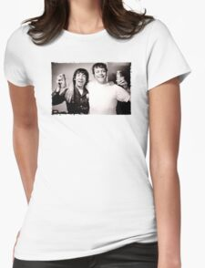 Keith Moon with Oliver Reed the who funny drunk legends mens t shirt Womens Fitted T-Shirt