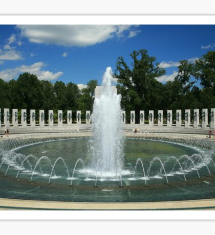 World War II Memorial 1660 Sticker