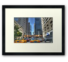 Chicago Rush Hour Traffic Cabs Framed Print