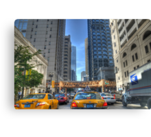 Chicago Rush Hour Traffic Cabs Canvas Print