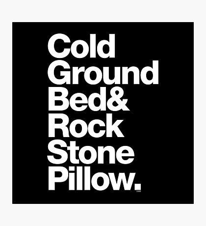 Bob Marley Bed Rock & Stone Pillow Threads Photographic Print