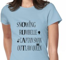 OUAT Ships (Black Text) Womens Fitted T-Shirt