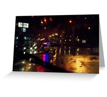 Running Red In The Rain Greeting Card