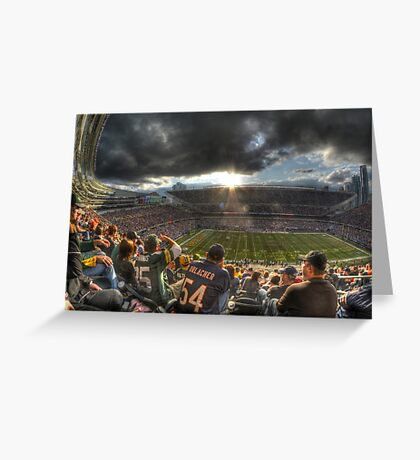 Bears vs. Packers: Rivalry in the Stands Greeting Card