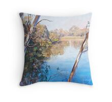 The Goulburn from the Esplanade (Seymour) Throw Pillow