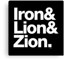 Bob Marley Iron & Lion Zion Reggae Threads Canvas Print