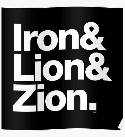 Bob Marley Iron & Lion Zion Reggae Threads Poster