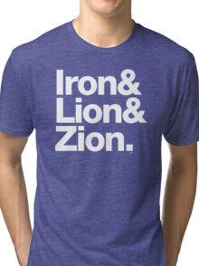 Bob Marley Iron & Lion Zion Reggae Threads Tri-blend T-Shirt