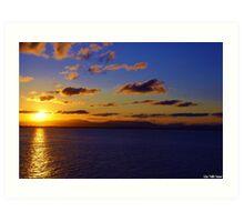 Sunset from the Pass Art Print