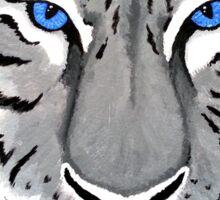 White Tiger with Piercing Blue Eyes Sticker