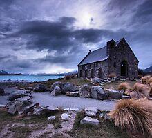 Church at Lake tekapo by Matthew Larsen