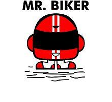 Mr biker Photographic Print
