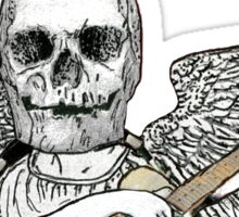 Rock 'n' Roll Skull Sticker