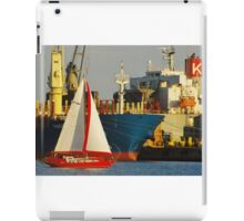 Red Boat At Night iPad Case/Skin